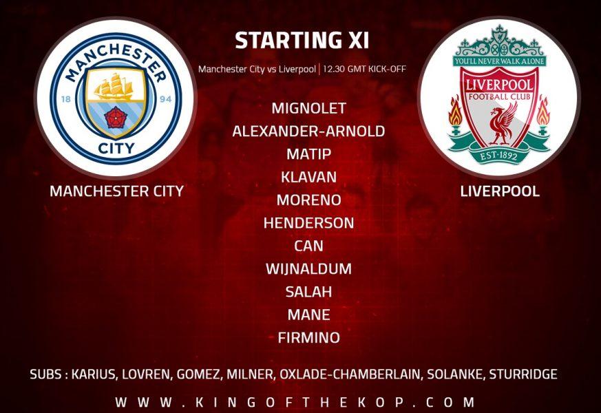 Manchester City vs Liverpool