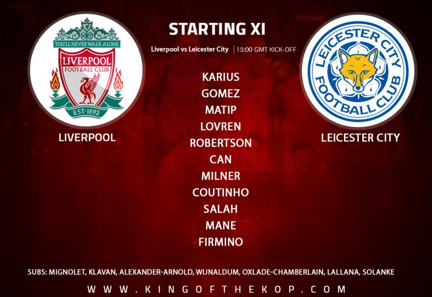 Liverpool team v Leicester City