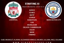 Liverpool team v Manchester City