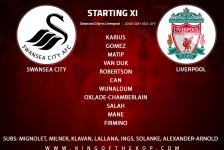 Liverpool team v Swansea City