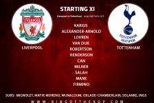 Liverpool team v Tottenham
