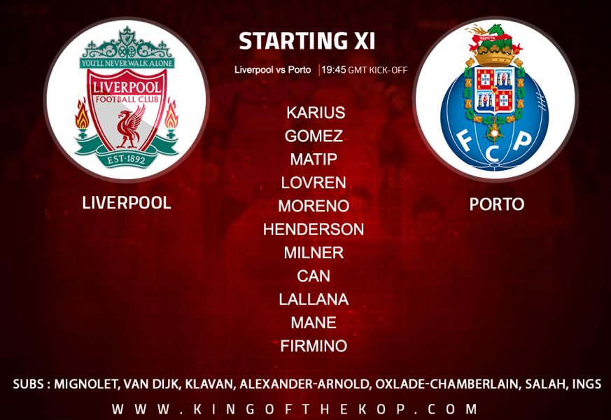 Liverpool team v Porto