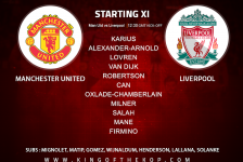 Liverpool team v Manchester United 10 March, 2018