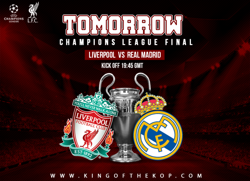 Liverpool v Real Madrid Champions League final 2018