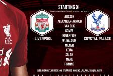 Liverpool team v Crystal Palace 20 August 2018