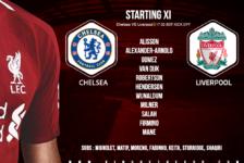 Liverpool team v Chelsea 29 September 2018