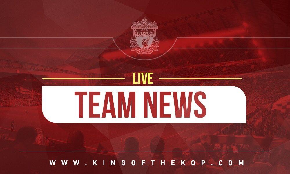 Confirmed: Liverpool lineup v Red Star Belgrade