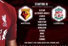 Liverpool team v Watford