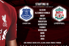 Liverpool team v Everton 3 March 2019