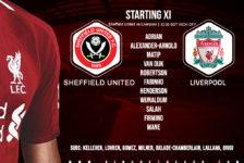 Confirmed: Liverpool team v Sheffield United