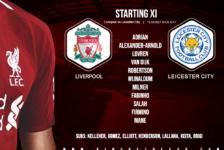 Confirmed: Liverpool team v Leicester
