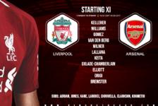 Liverpool team v Arsenal 30 October 2019
