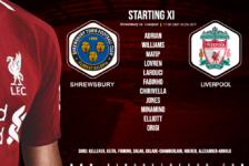 Liverpool team v Shrewsbury in the FA Cup fourth round on 26 January 2020