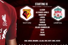 Liverpool team v Watford 29 February 2020