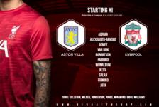 Liverpool team v Aston Villa 4 October 2020