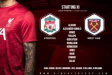Liverpool team v West Ham 31 October 2020
