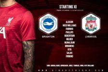 Confirmed: Liverpool team v Brighton