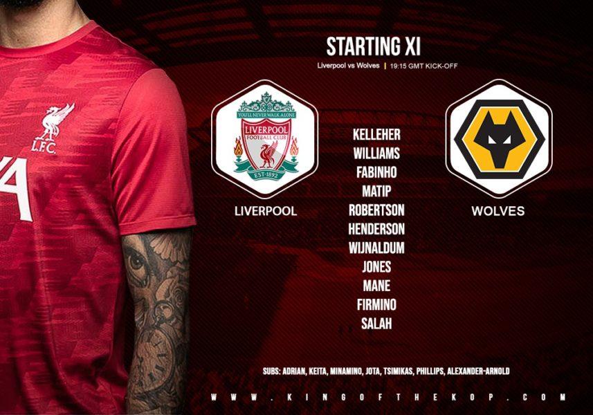 Confirmed: Liverpool v Wolves