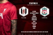 Liverpool team v Fulham 13 December 2020
