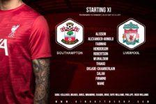 Confirmed: Liverpool v Southampton