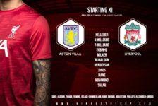 Confirmed: Liverpool team v Aston Villa