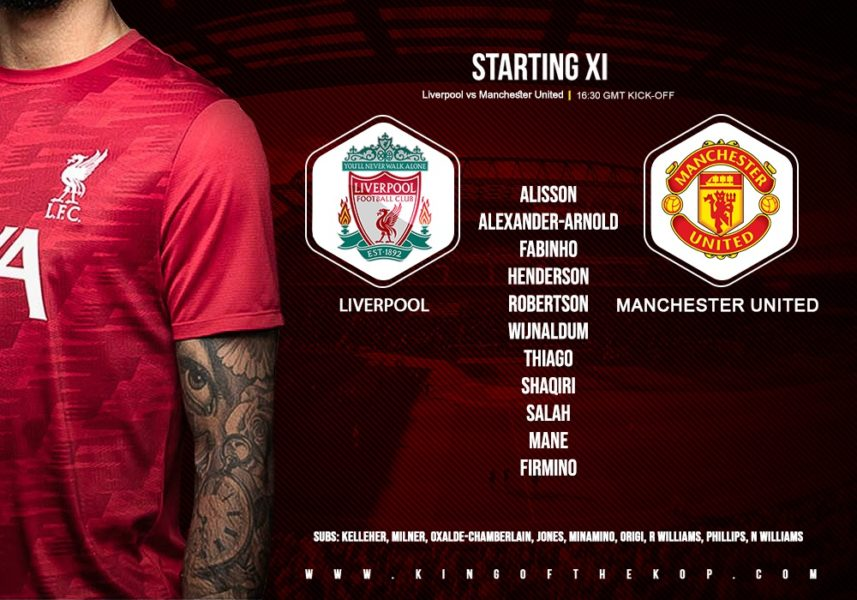 Liverpool v Manchester United you will 17 January 2021
