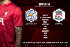 Liverpool team v Leicester City 13 February 2021