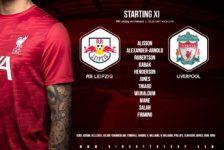 Confirmed: Liverpool team v RB Leipzig
