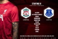 Liverpool team v Everton 20 February 2021