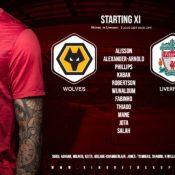 Confirmed: Liverpool team v Wolves