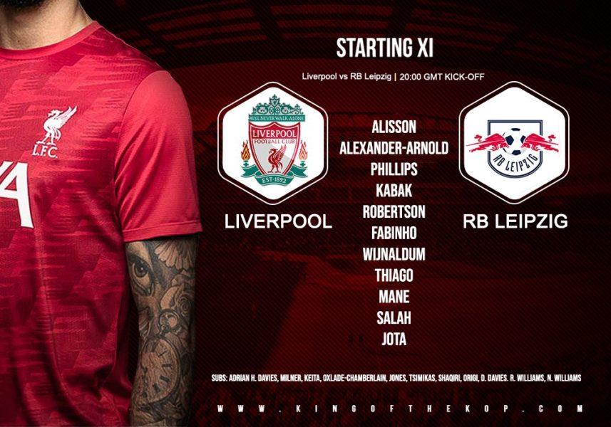 Liverpool V RB Leipzig 10 March 2021