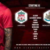 Liverpool team v Newcastle 24 April 2021