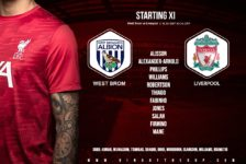 Liverpool team v West Brom at the hawthorns 16 may 2021