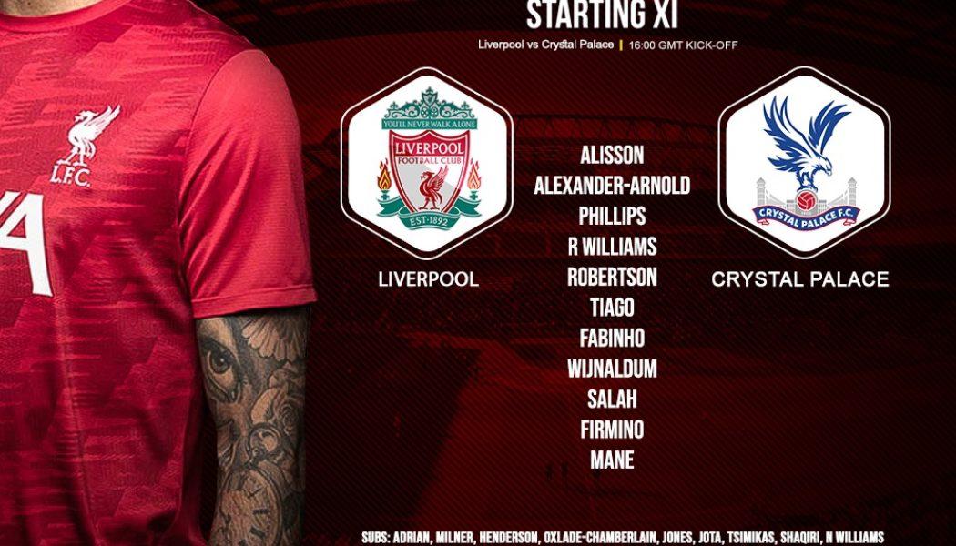 Liverpool team v Crystal Palace 23 May 2021