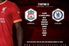 Liverpool team v Chelsea 28 August 2021
