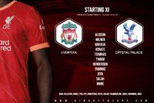 Liverpool team v Crystal Palace 18 September 2021