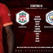 Liverpool team v Manchester City 3 October 2021
